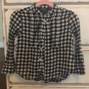 Polo long sleeved flannel shirt
